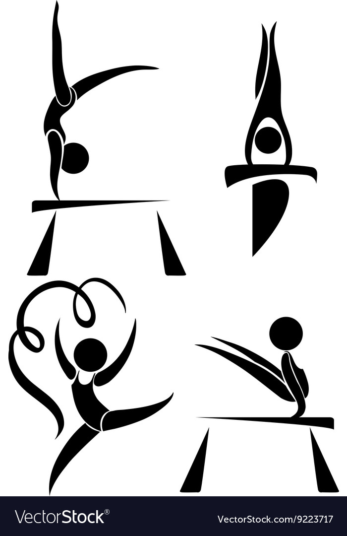 Olympics symbols for gymnastics vector image