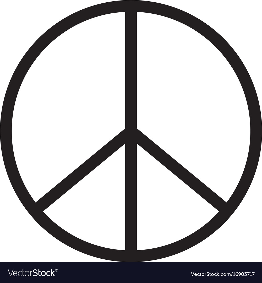 Peace Icon On White Background Peace Sign Vector Image On Vectorstock