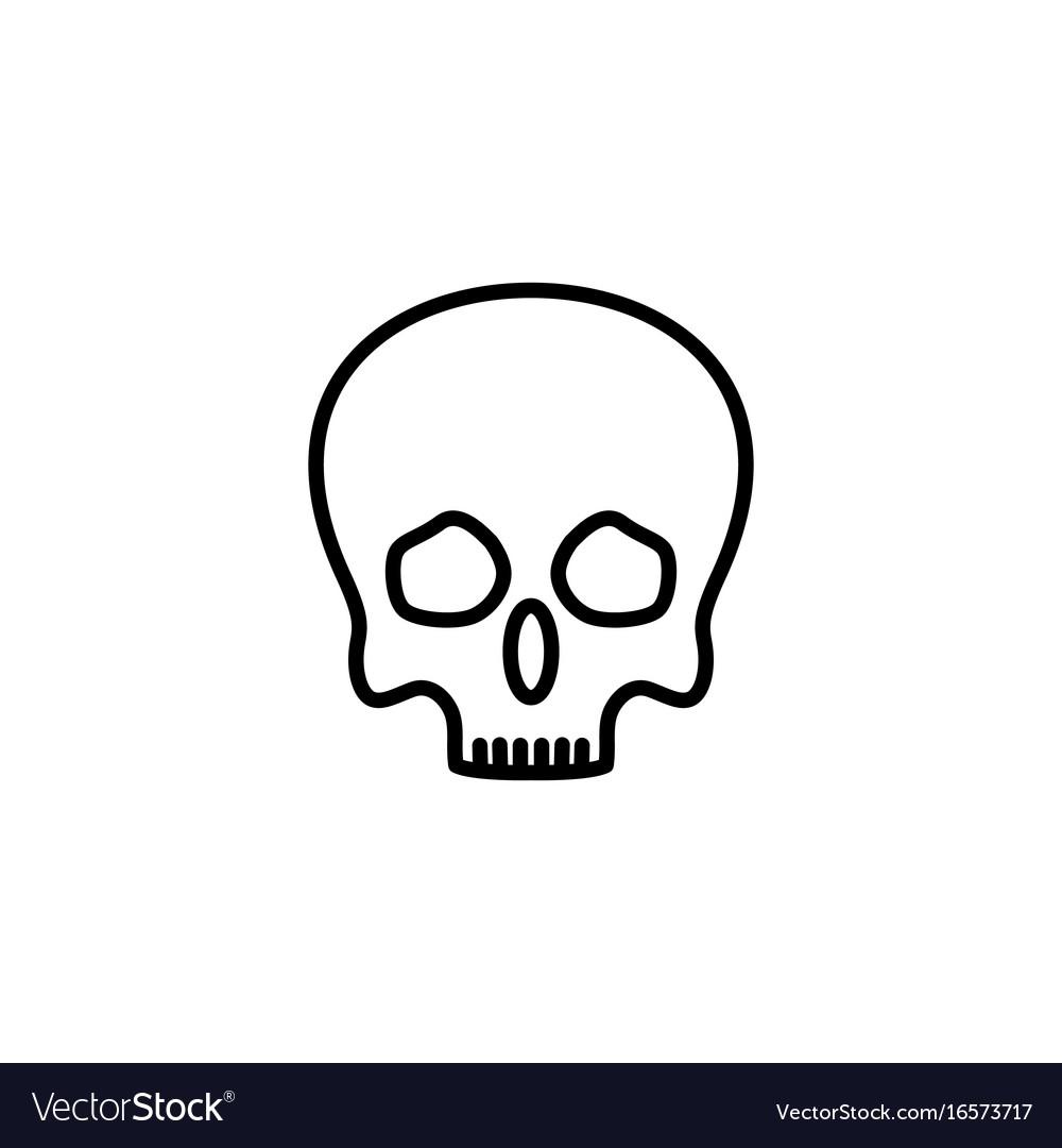 Skull icon on white background