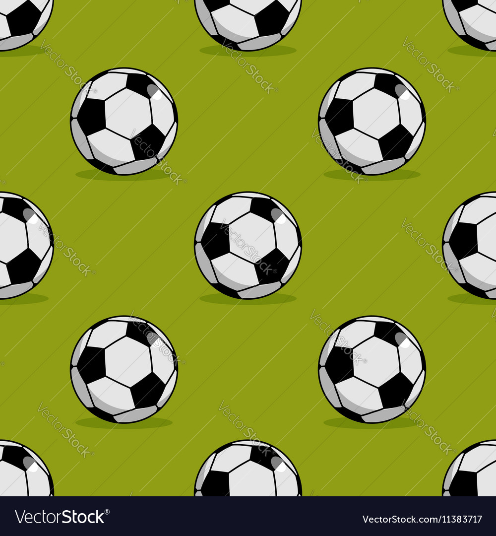 Soccer ball seamless pattern Sport accessory vector image