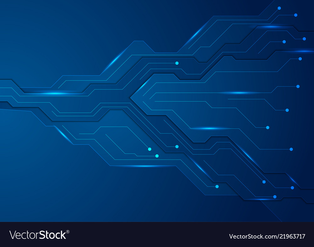 Tech Dark Blue Futuristic Abstract Background