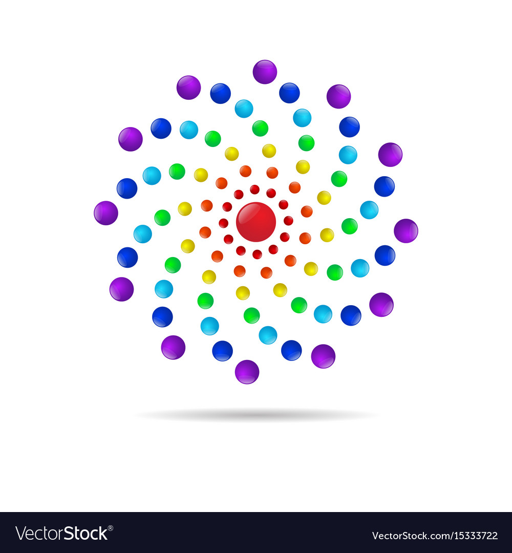 Abstract circle dots 3d logo iconxa