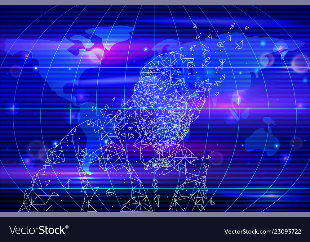 Artificial intelligence map and person