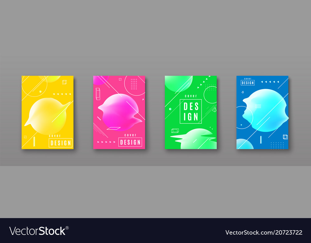 Bright color abstract pattern background with line vector image