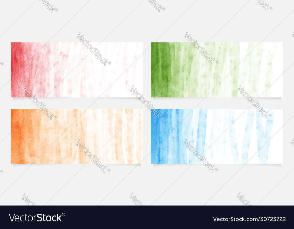 Colorful red orange blue green brush stroke