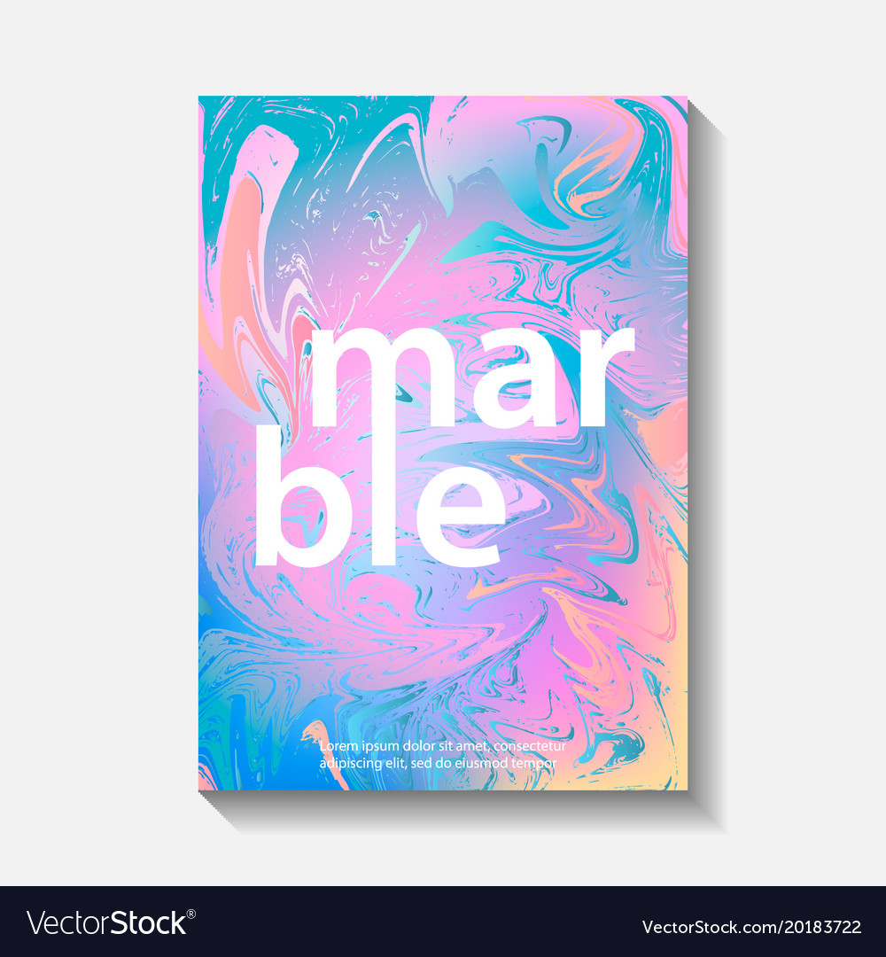 Creative design posters with marbling