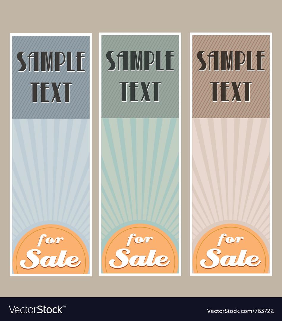 For sale retro banner set