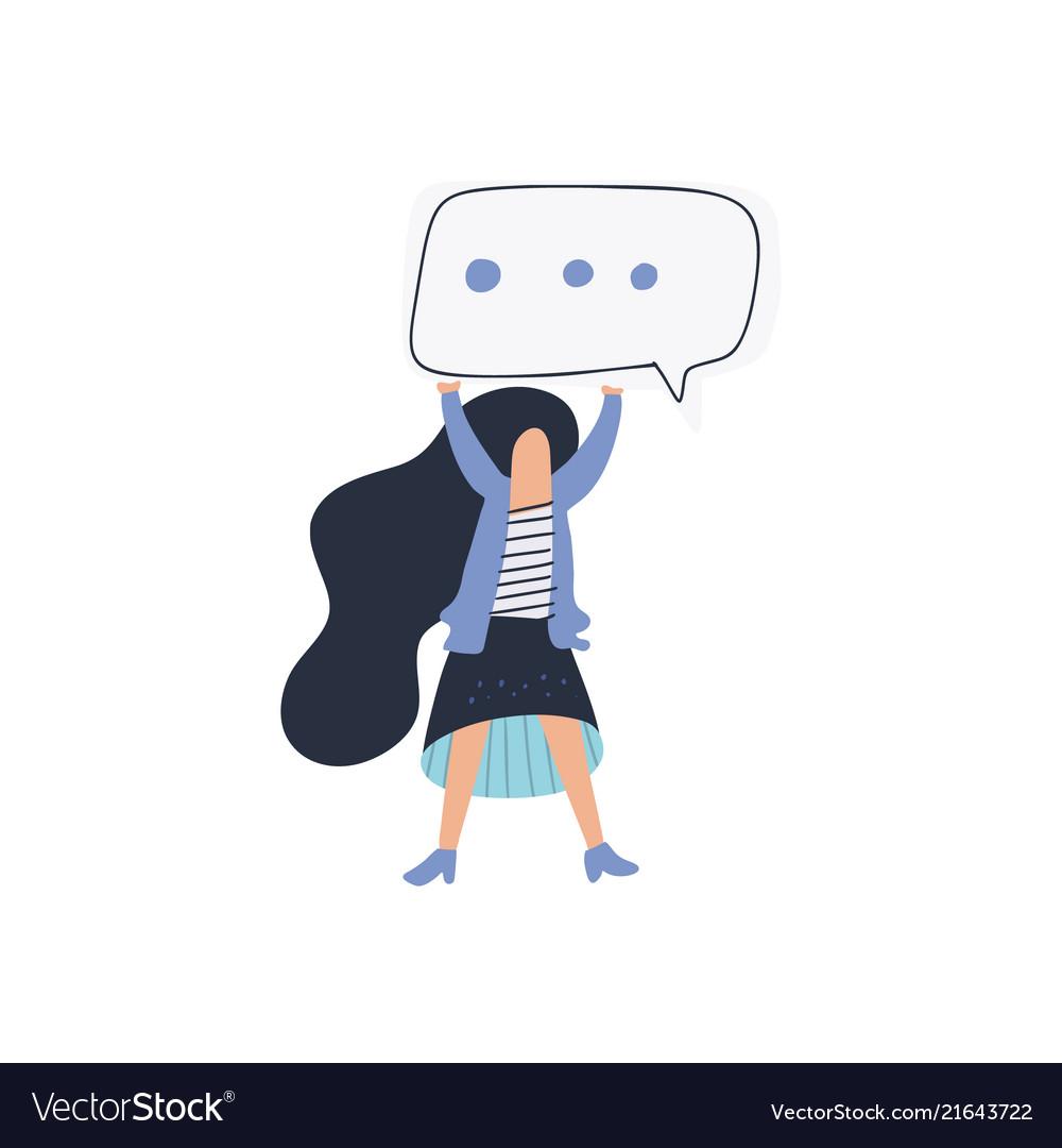 Girl speech bubble
