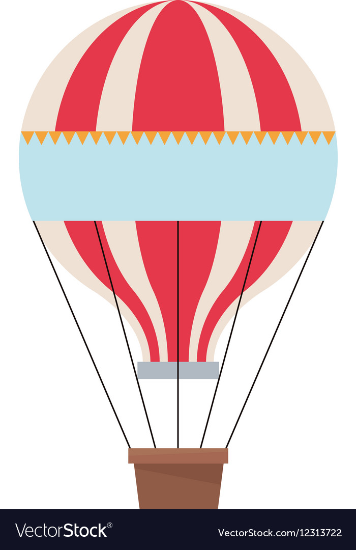 Isolated hot air balloon design