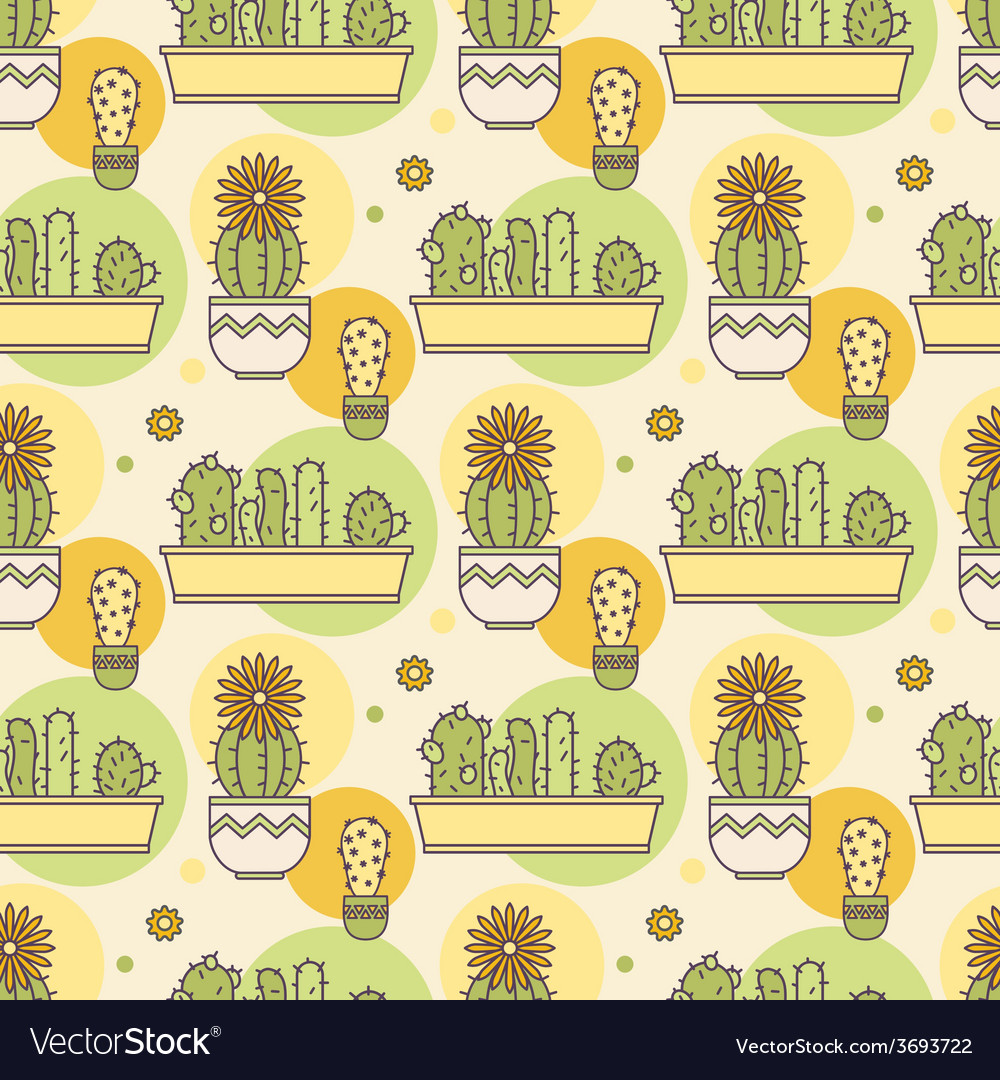 Pattern of cacti Linear