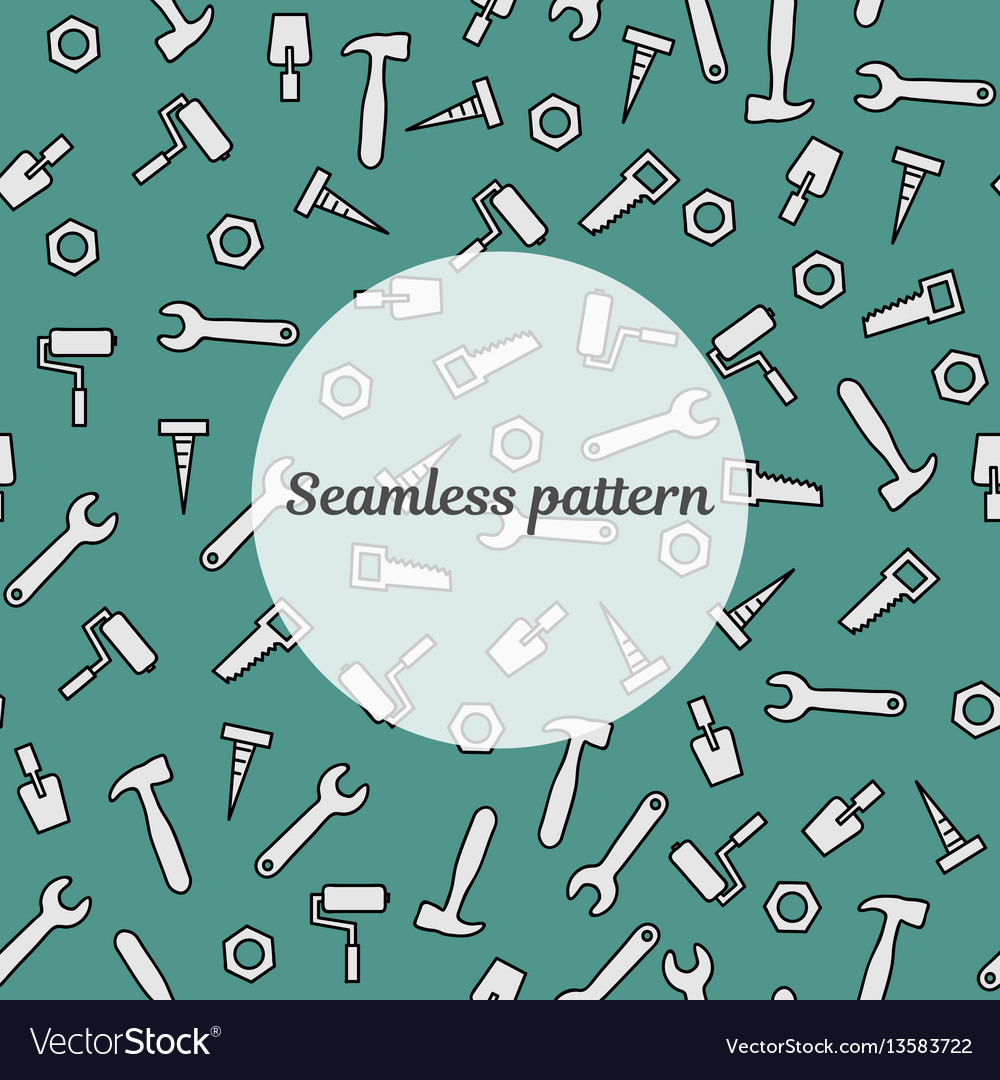Seamless pattern blue color with tools for repair vector image