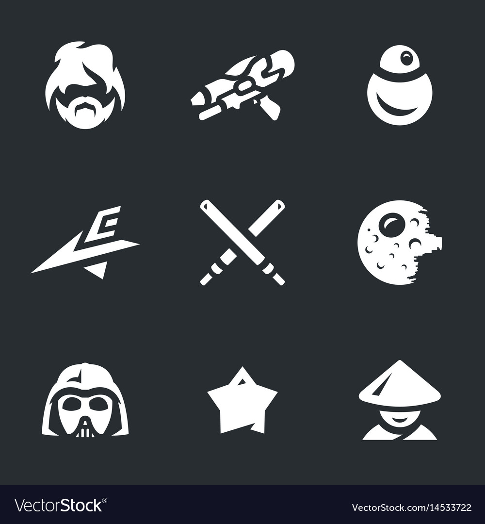 Set space war icons vector