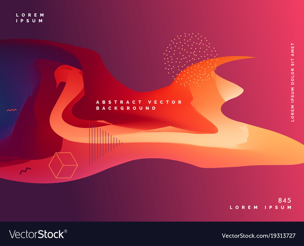 abstract gradient color fluid design background vector image