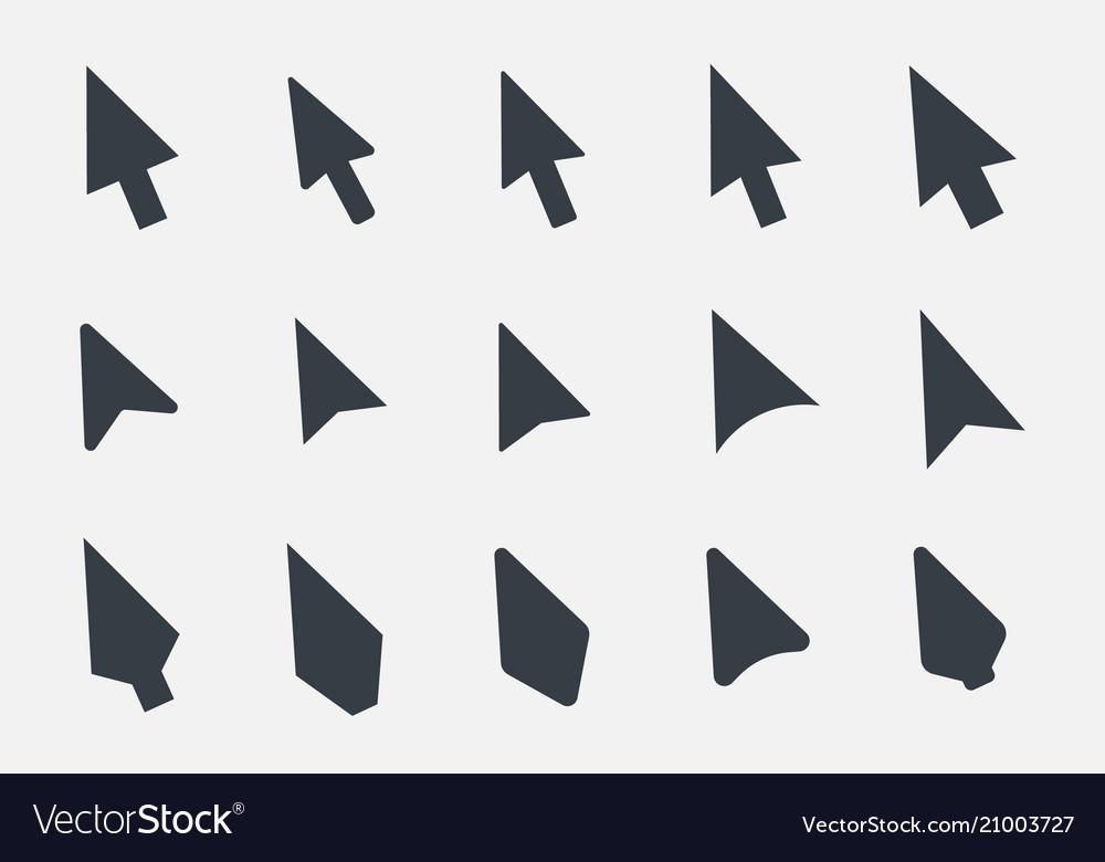 Arrow cursor icon set