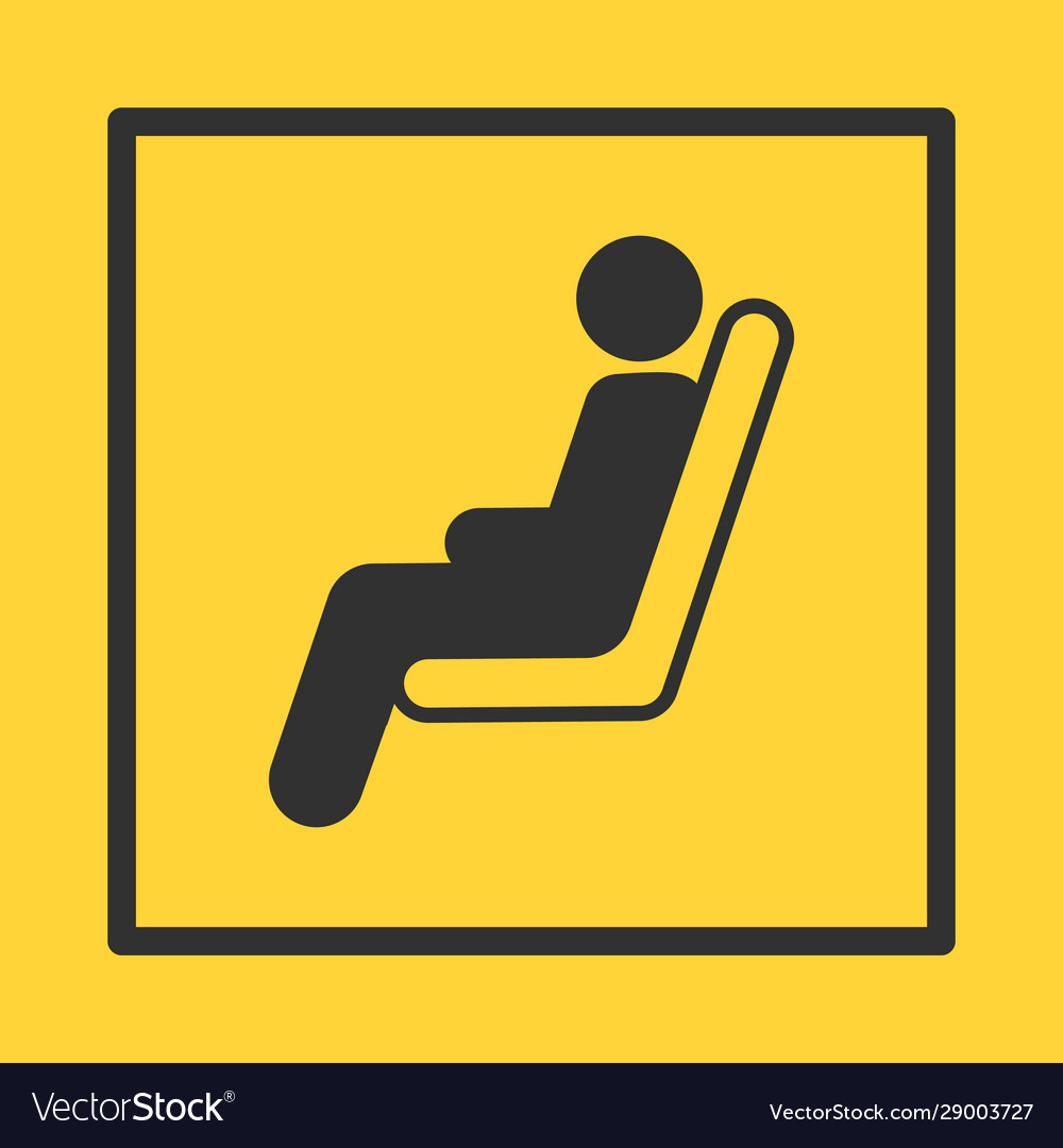 Bus or train or plane seat yellow sticker
