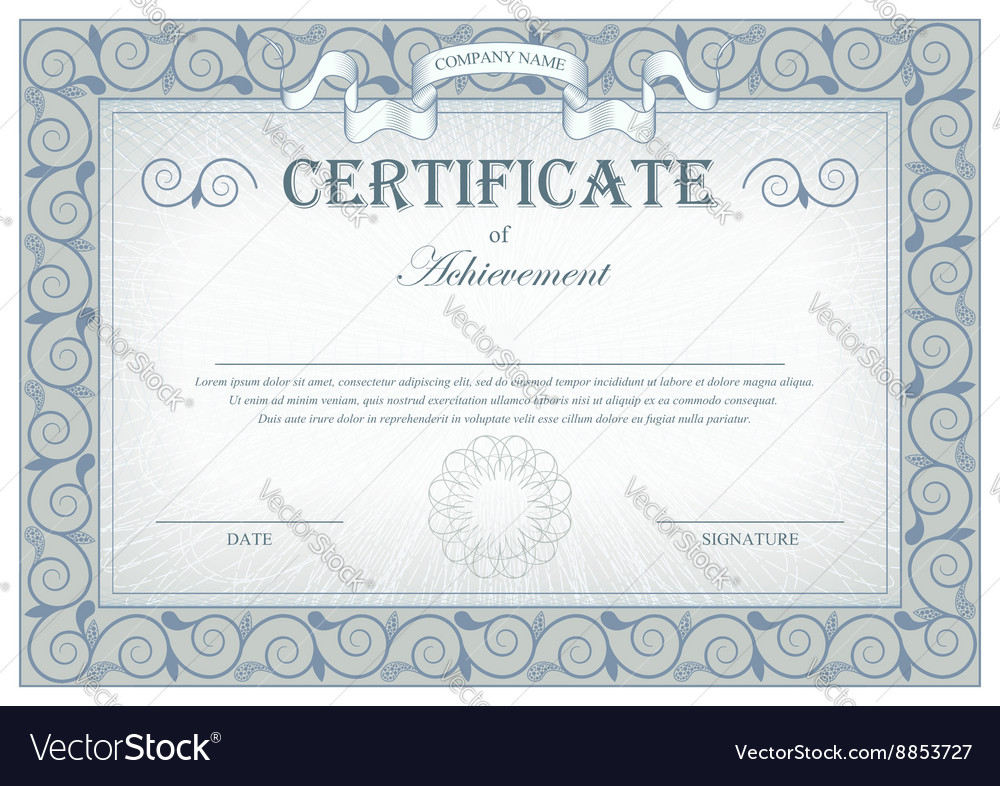 Detailed gray vintage cerificate with flags and vector image