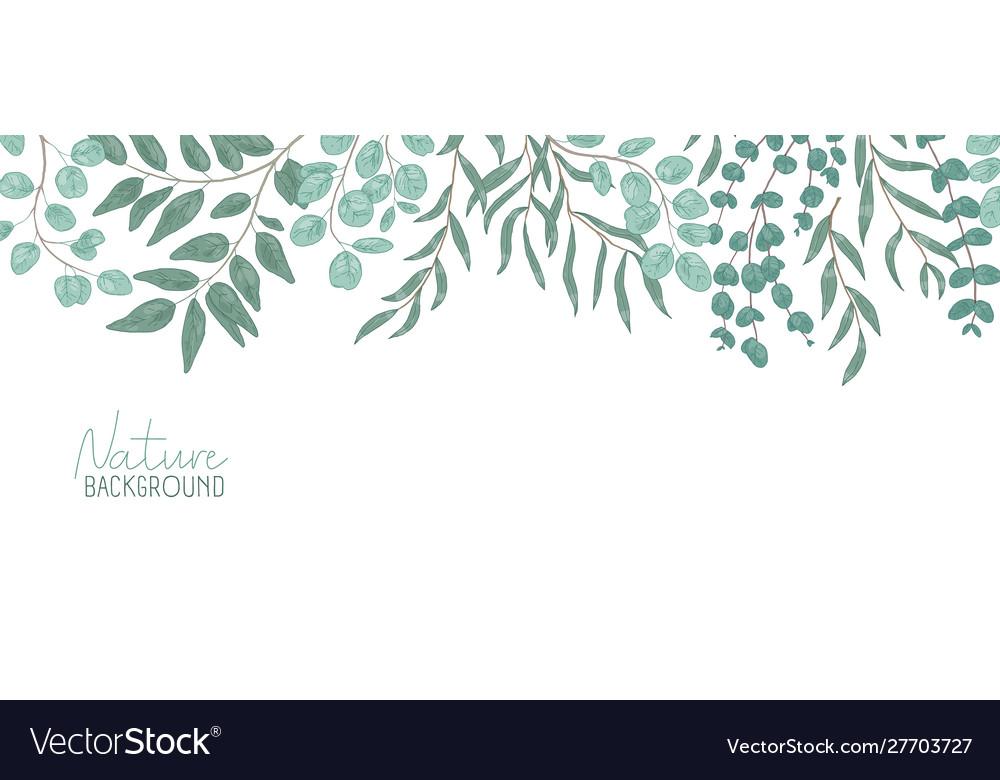 Nature realistic background foliage