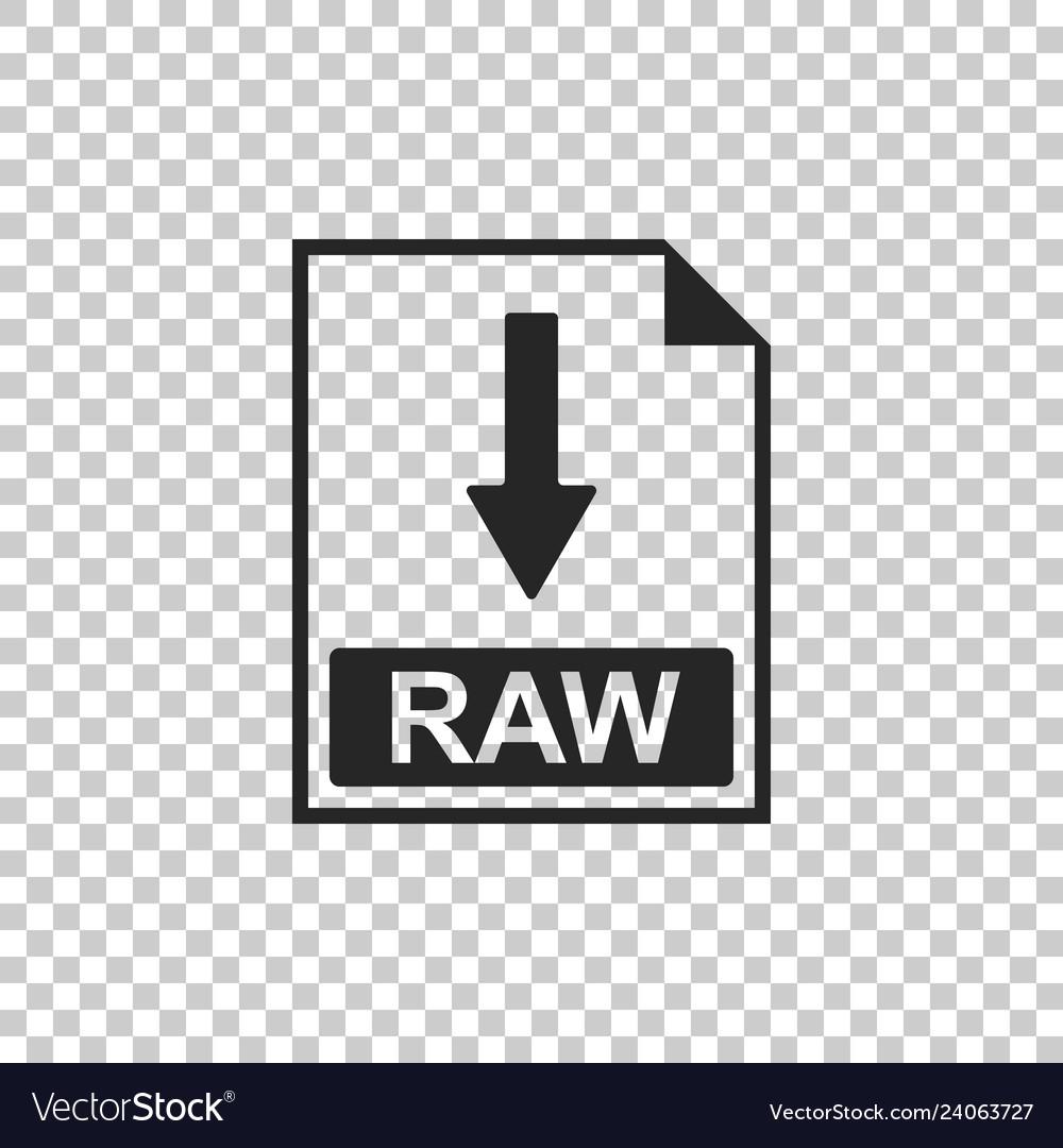 Raw file document icon download raw button icon