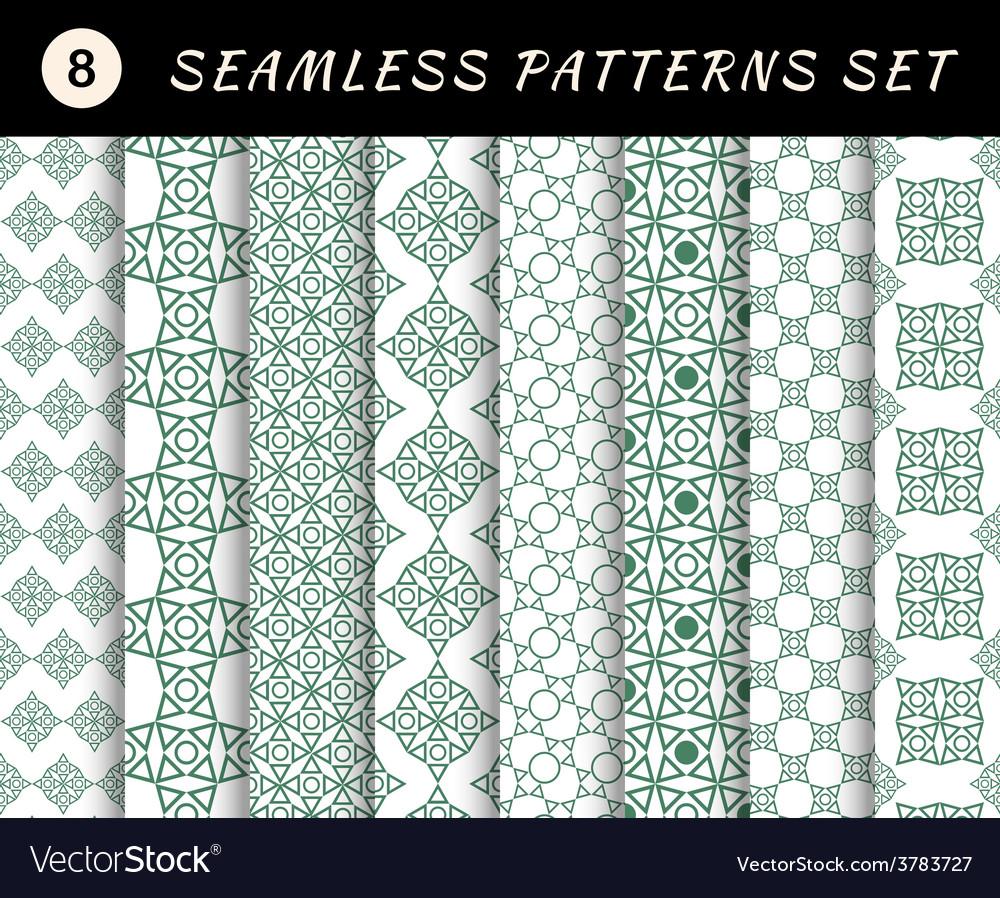 Seamless patterns set Geometric textures
