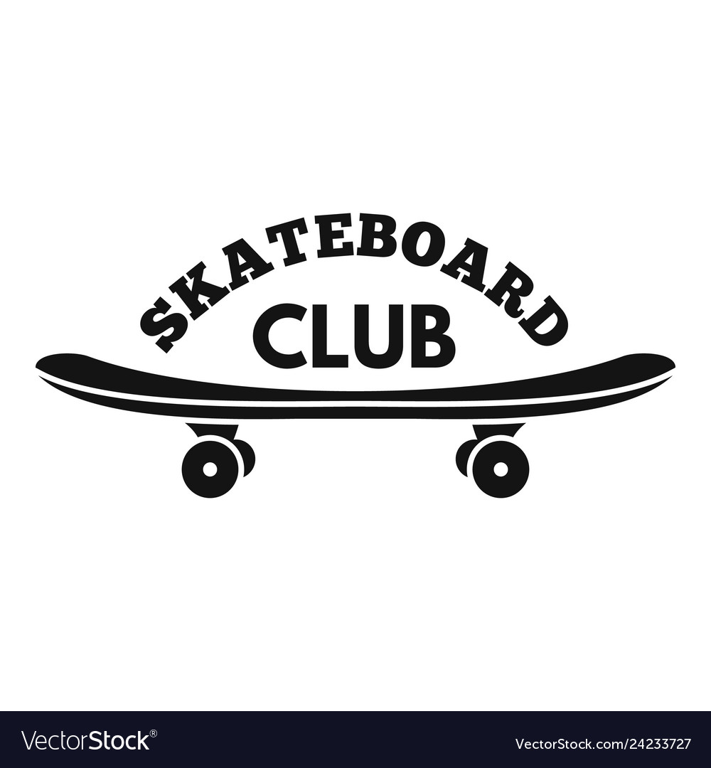 Skateboard club logo simple style