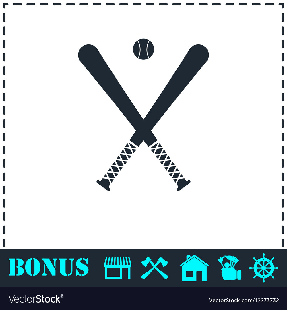 Baseball icon flat