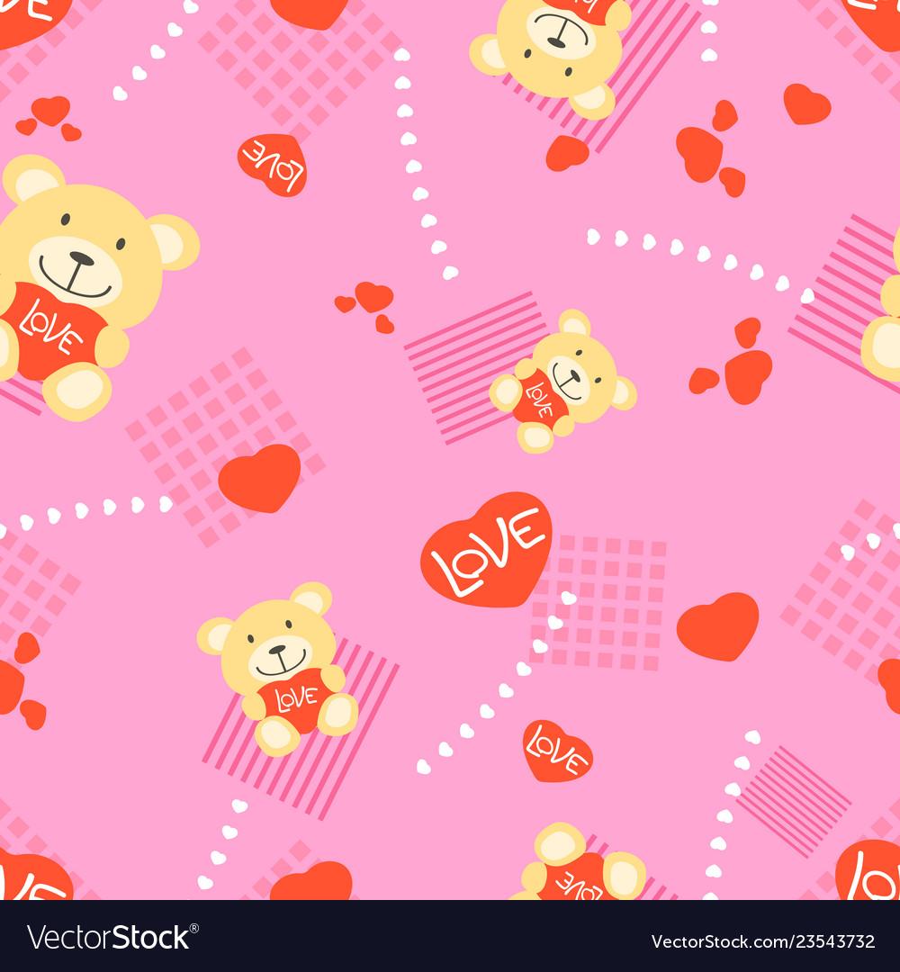 Bear and heart