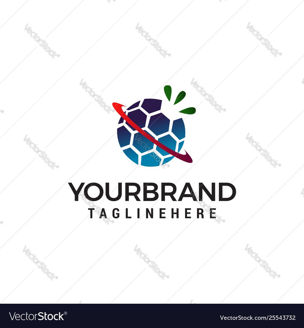 Globe technology logo design concept template