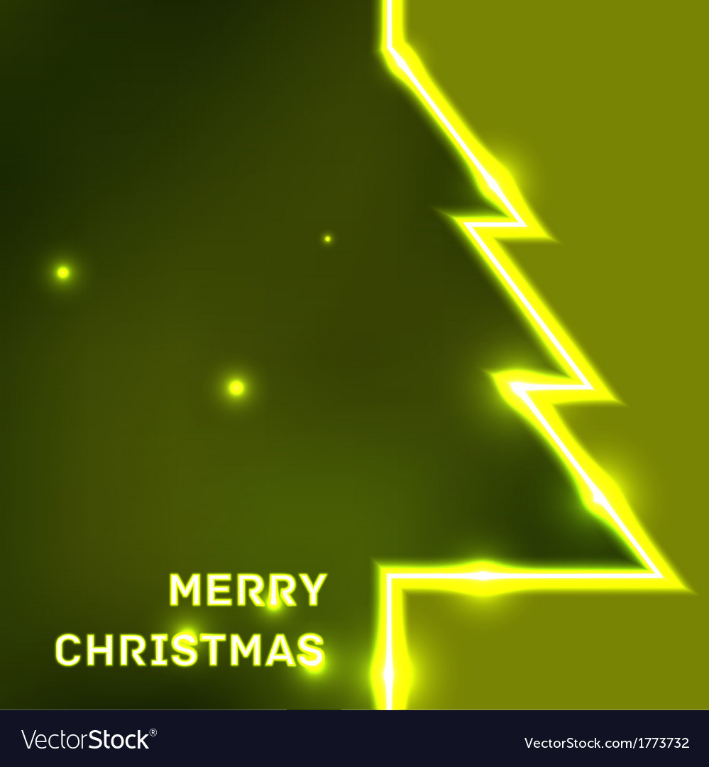 Glowing Merry Christmas typographic card vector image