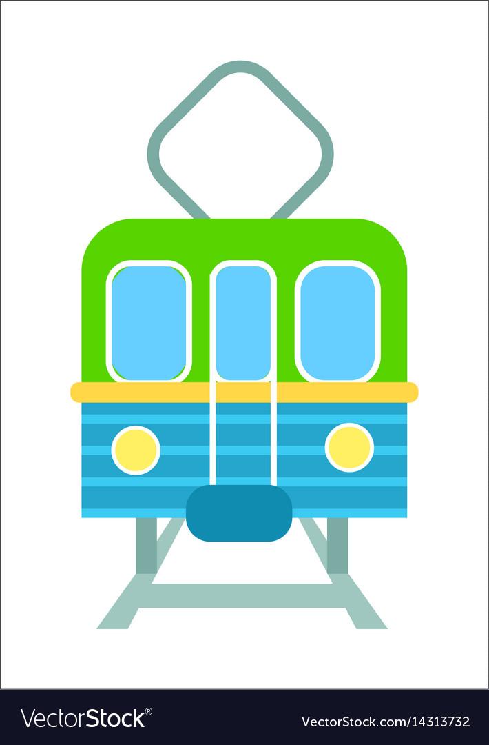Railway transport isolated icon