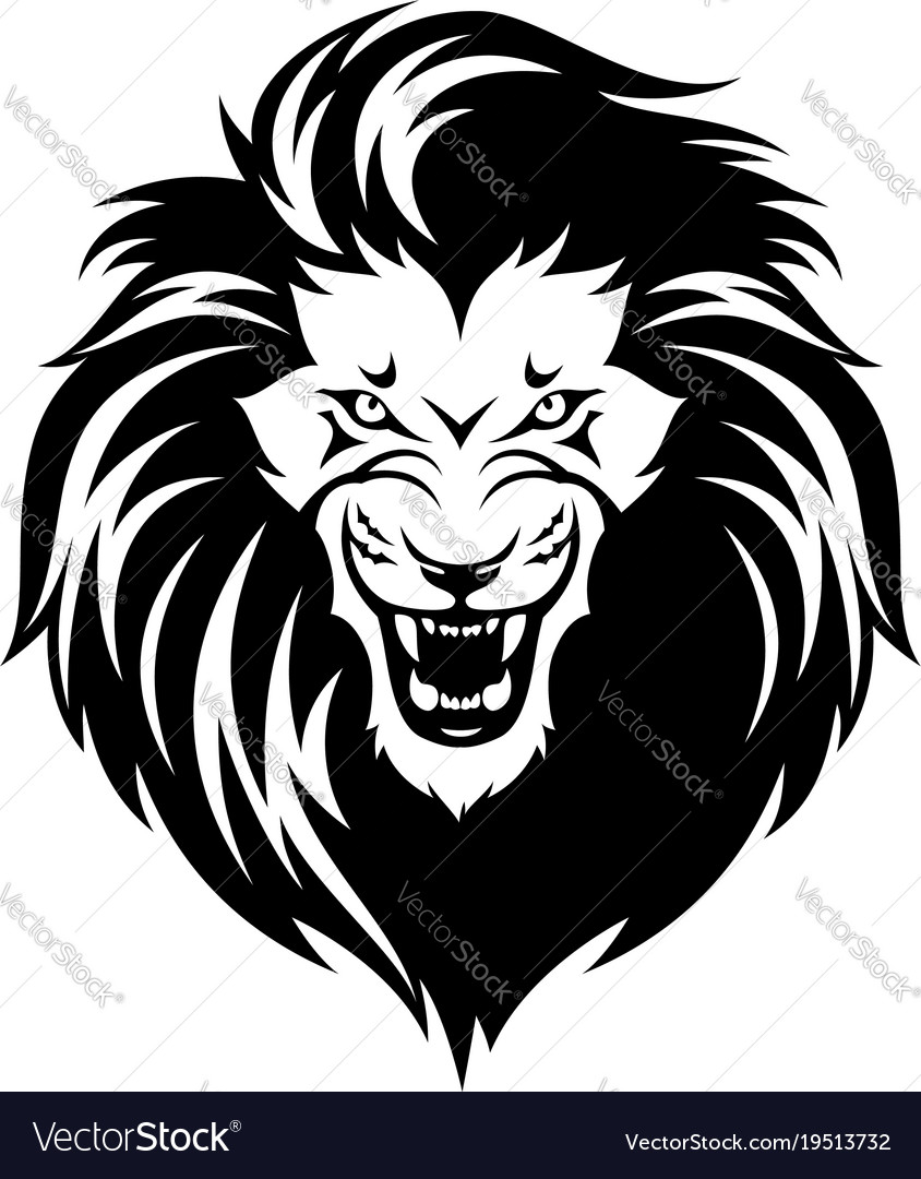 roaring lion royalty free vector image vectorstock rh vectorstock com lion vector drawing lion vector art