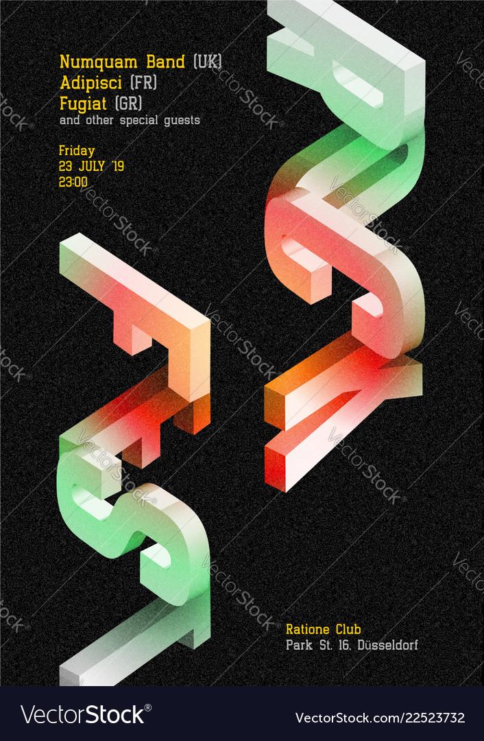 Rock fest dark poster music cover for