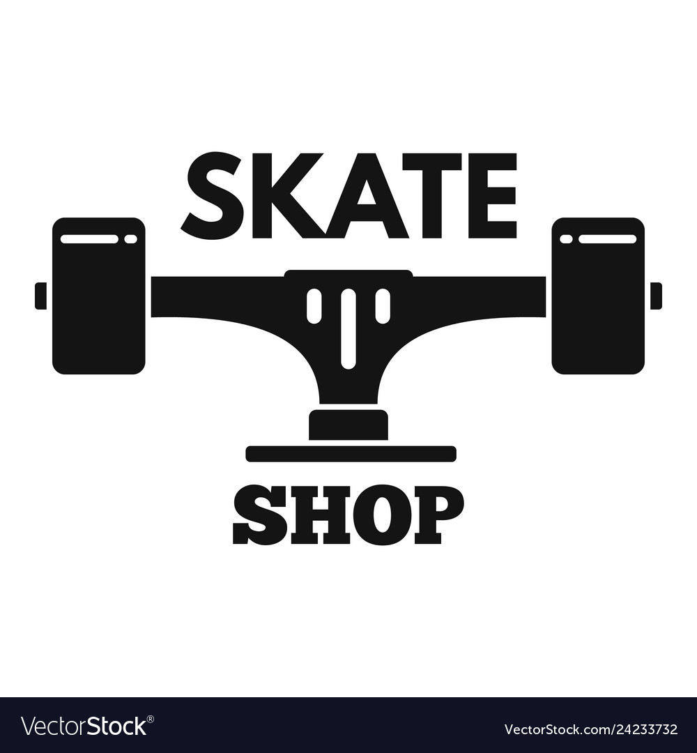 Skate shop logo simple style