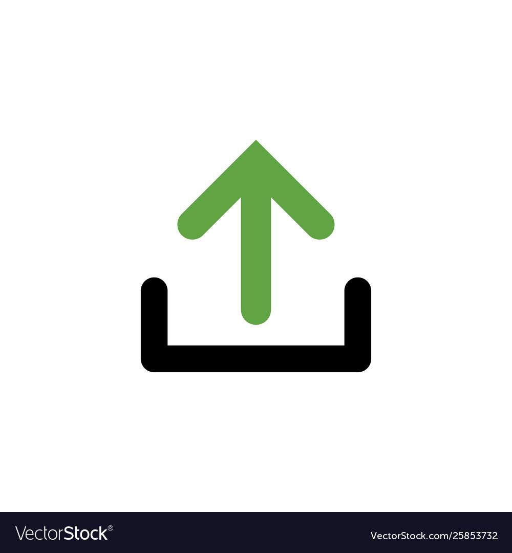 Upload icon graphic design template