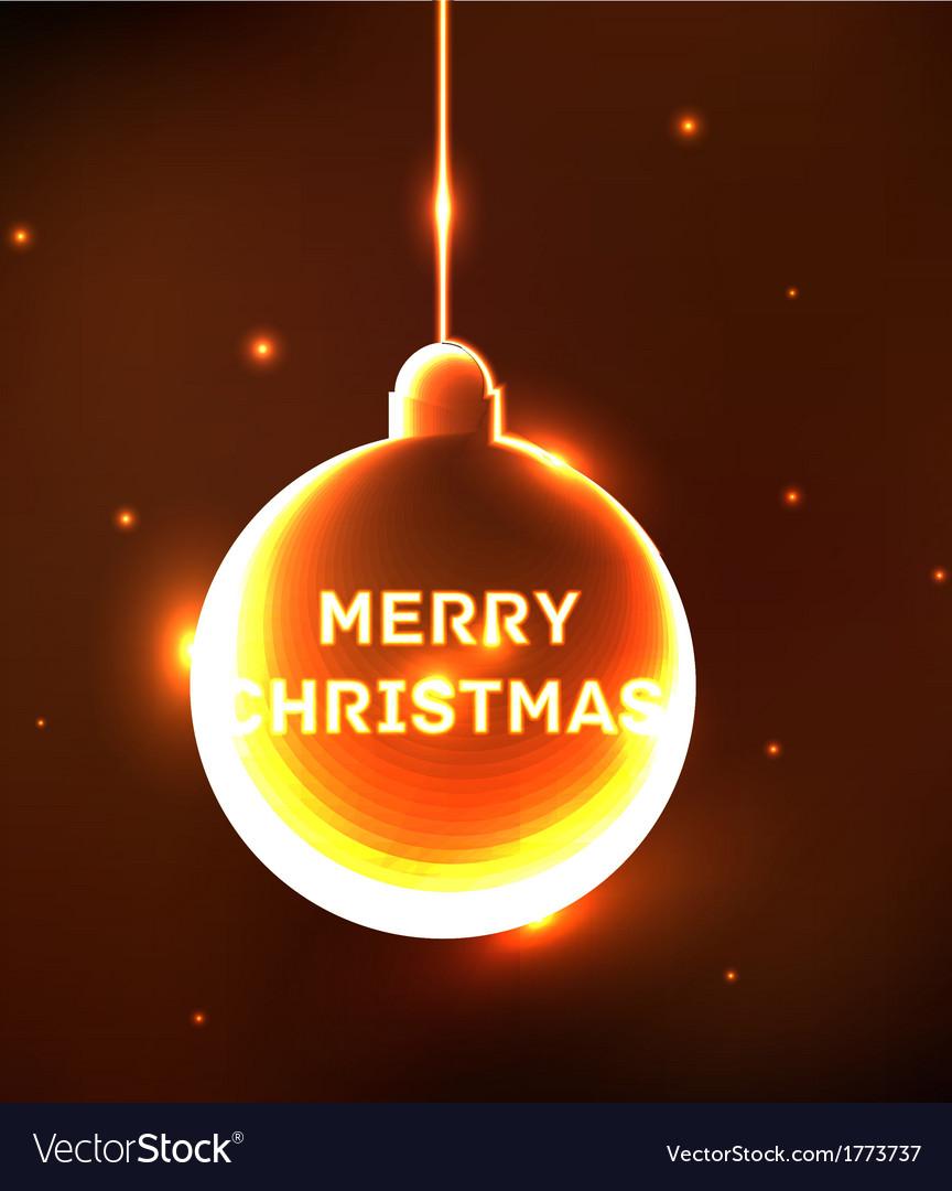 Abstract shine Christmas ball card