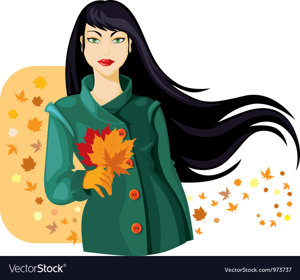 Autumn lady vector image