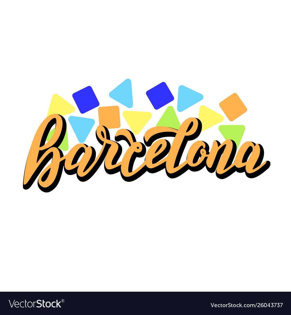 barcelona city logo trendy lettering banner vector image https www vectorstock com royalty free vector barcelona city logo trendy lettering banner vector 26043737