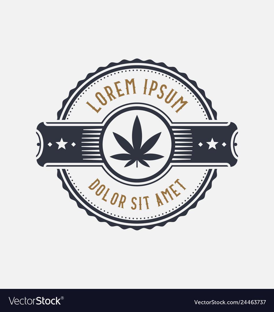 Brand identity template design symbol of marijuana
