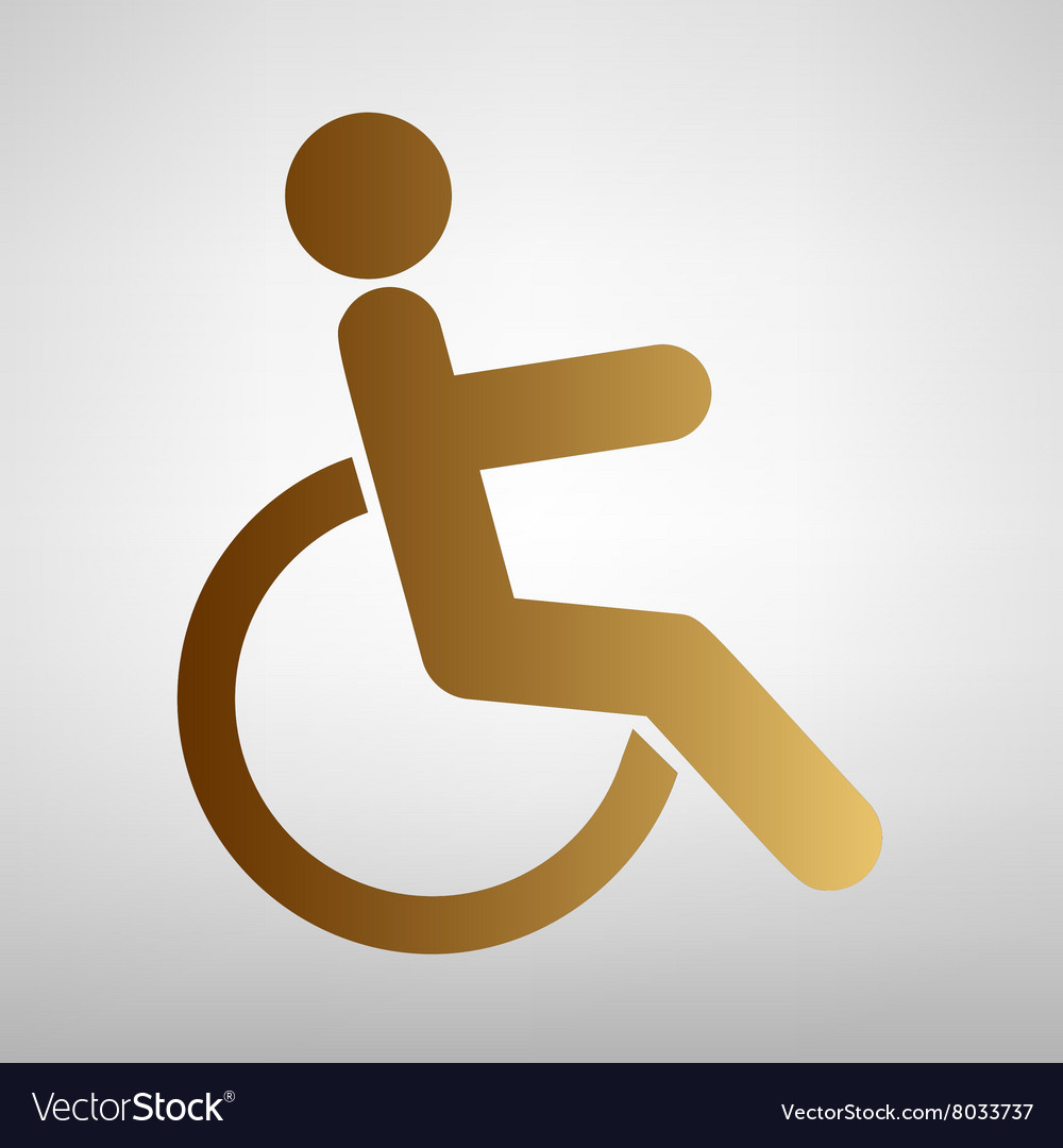 Disabled sign Flat style icon