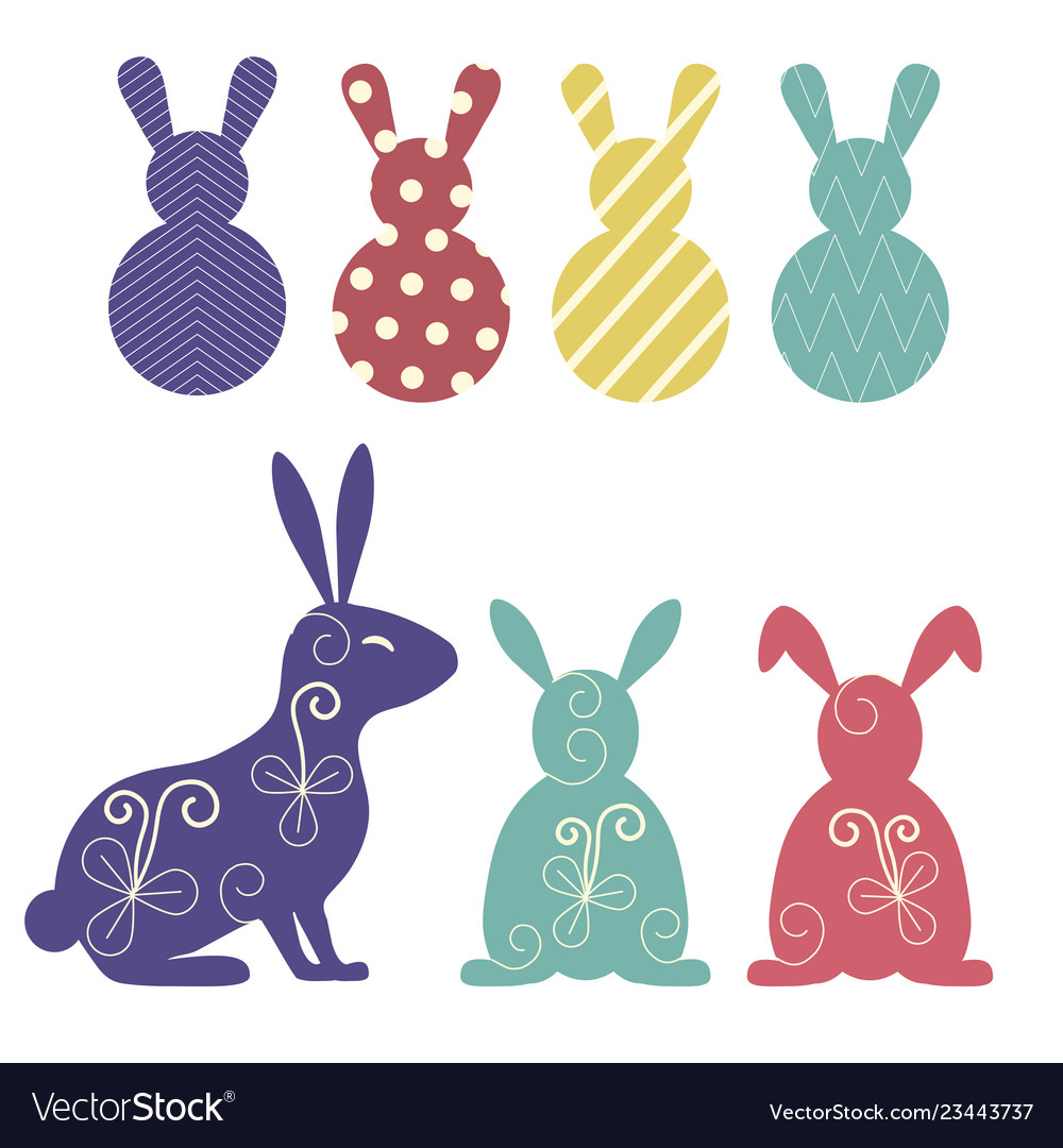 Easter bunnies and rabbits collection