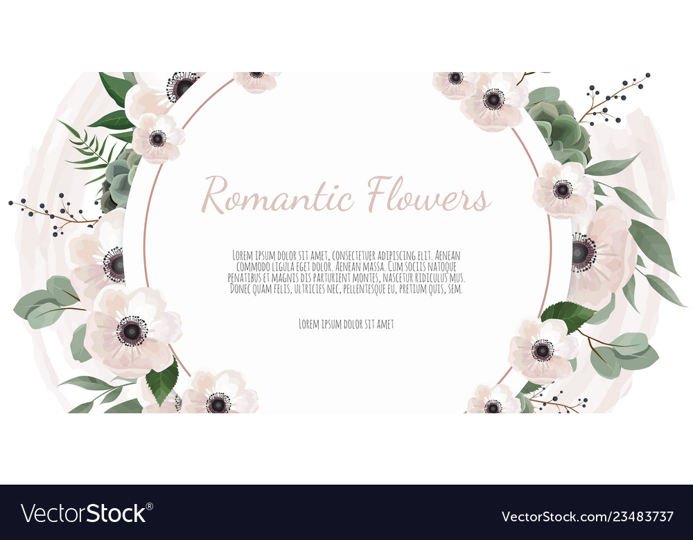 Frame Border Background Floral Wedding Card With