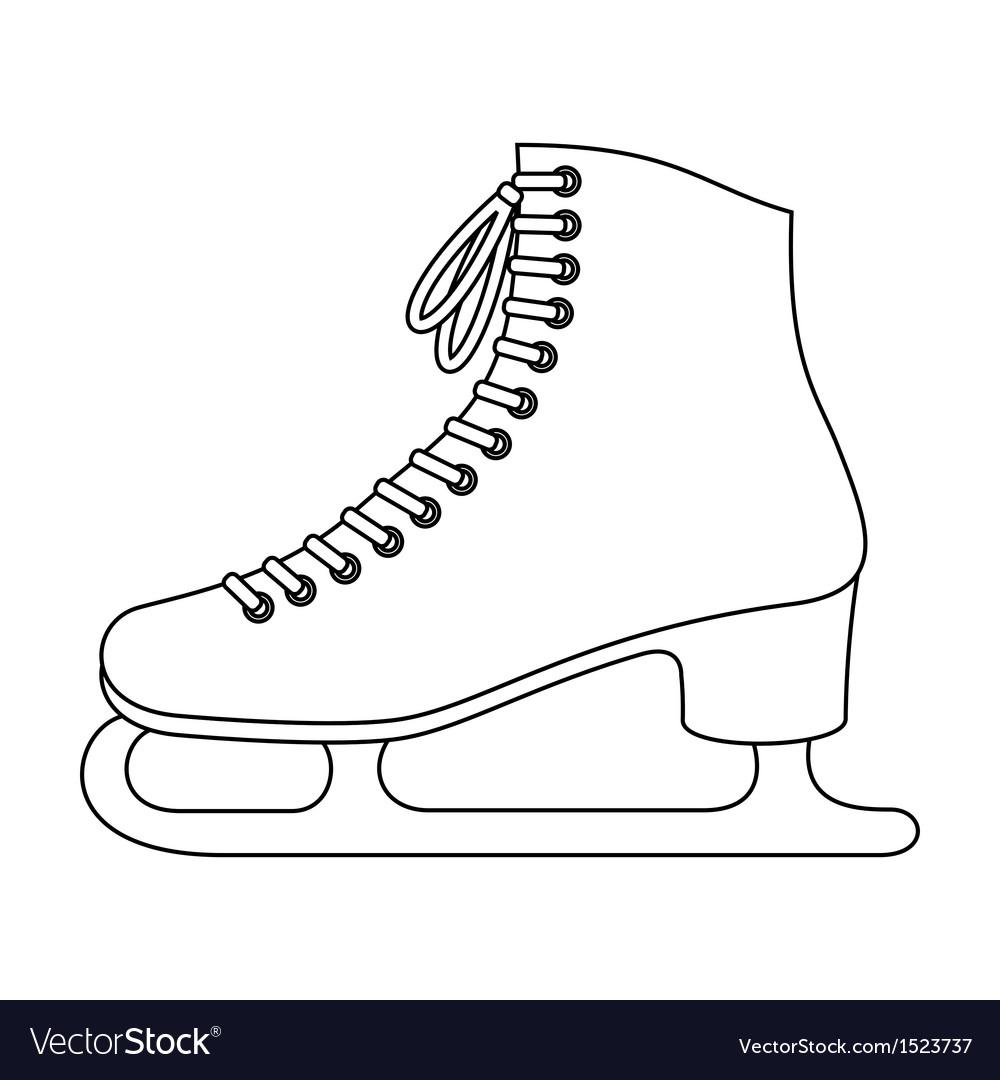Ice Skates Royalty Free Vector Image Vectorstock