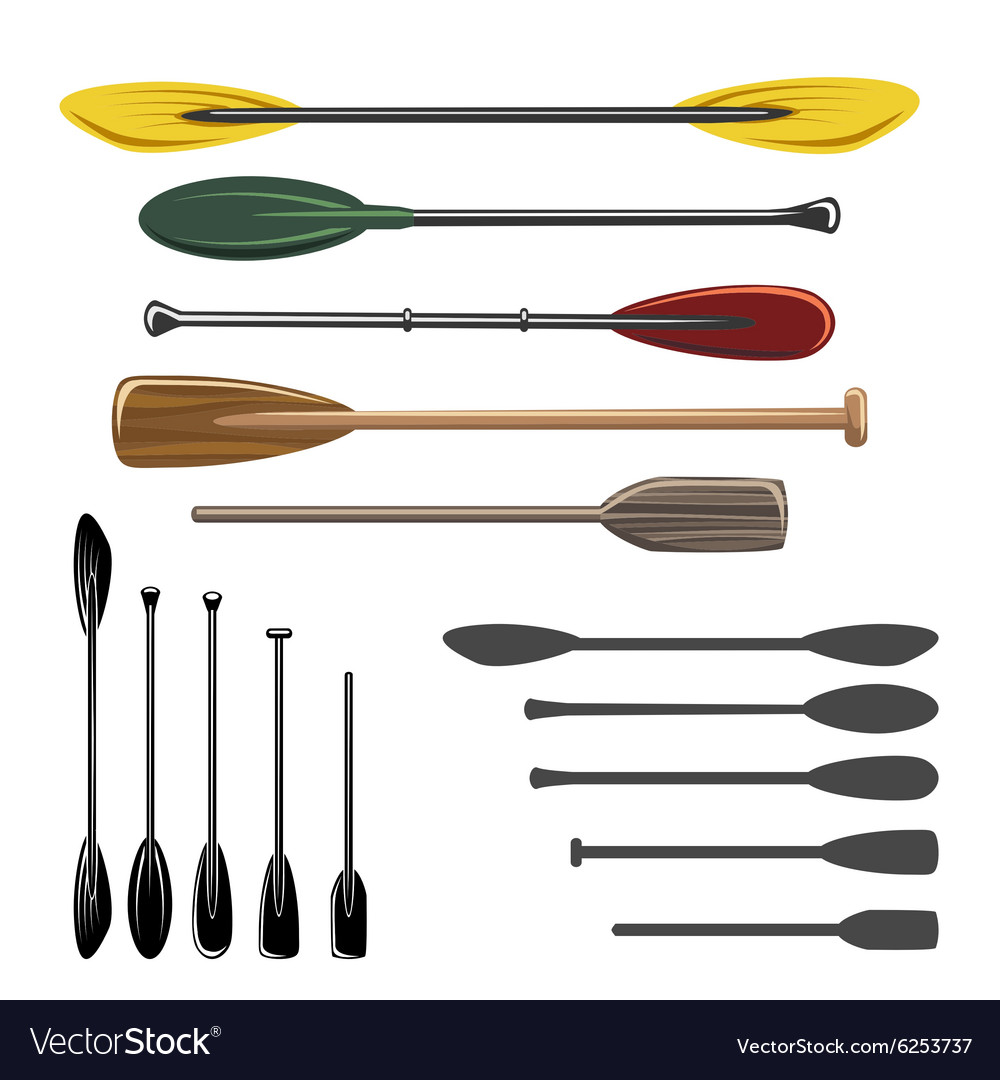Paddles and oars icons
