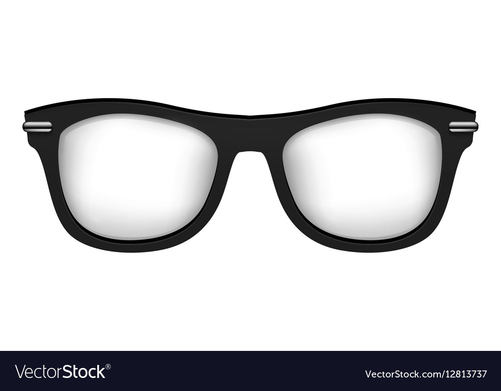Realistic glasses in black white vector image