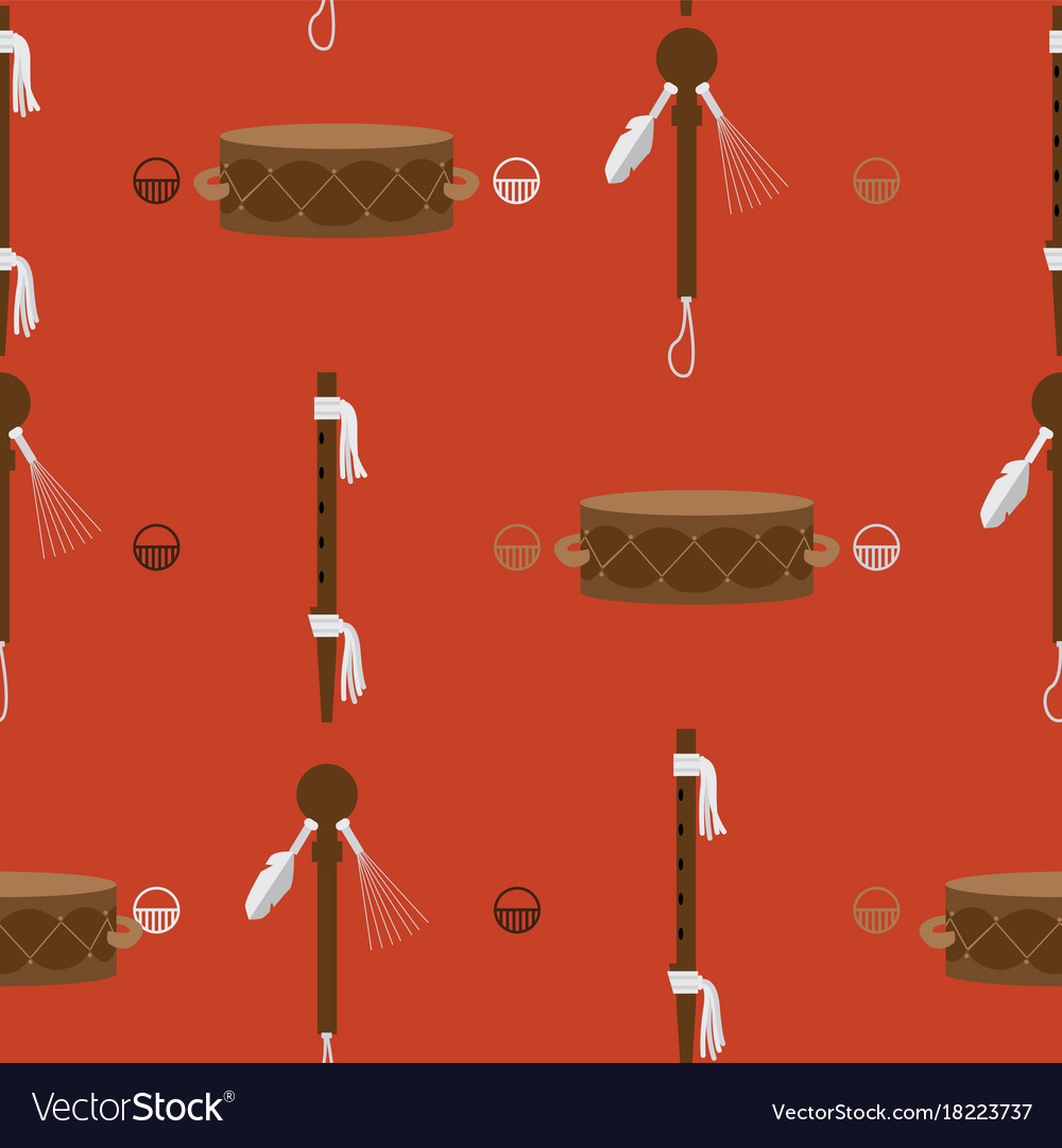 Seamless pattern with bright orange background