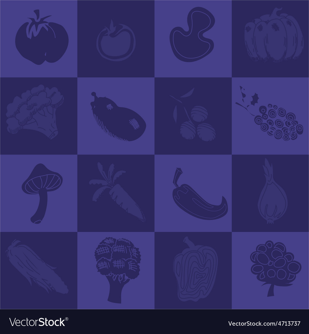 Seamless texture with vegetables