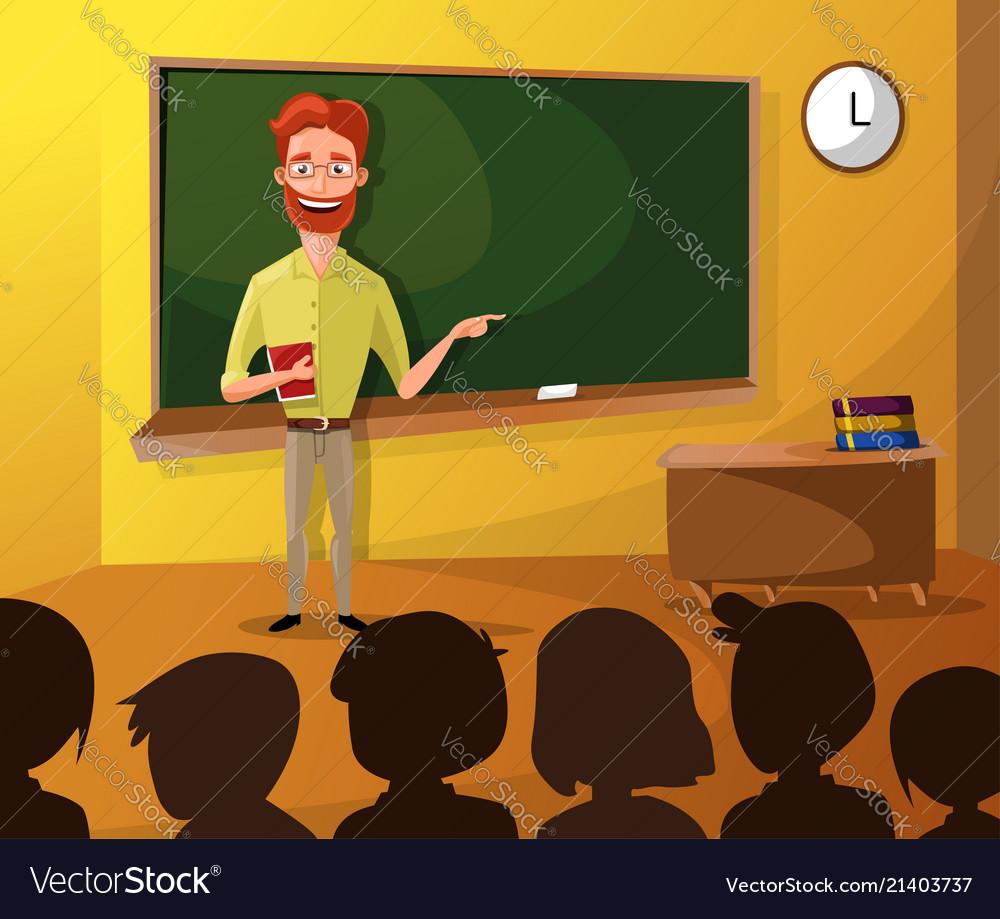 Teacher teaching students in classroom world book