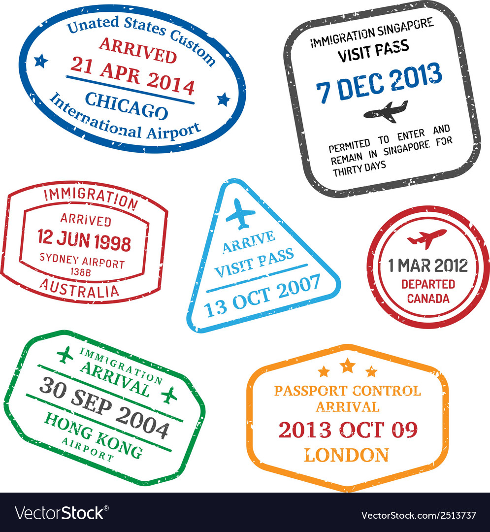 Travel visa stamps