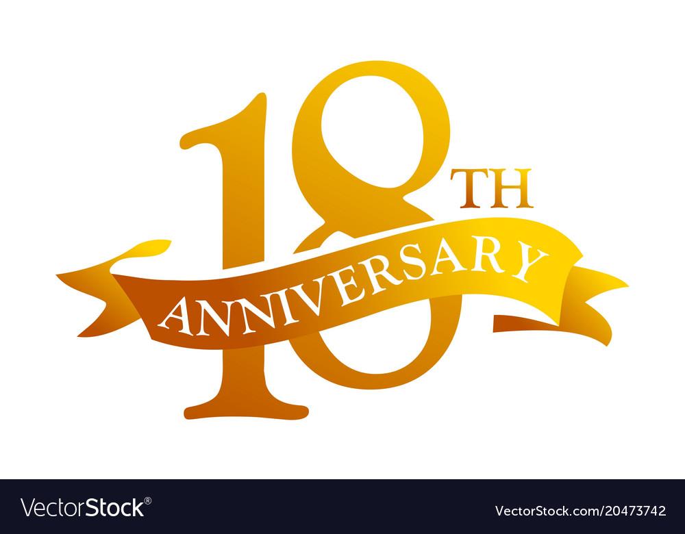 Year ribbon anniversary royalty free vector image