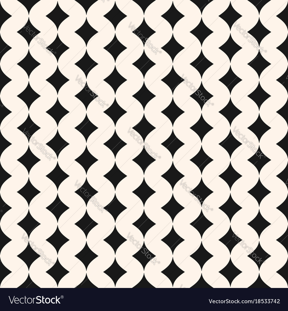 Art deco seamless pattern monochrome geometric