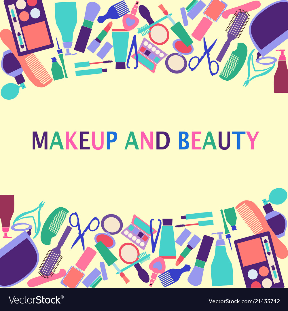 Background of cosmetics shop beauty salon
